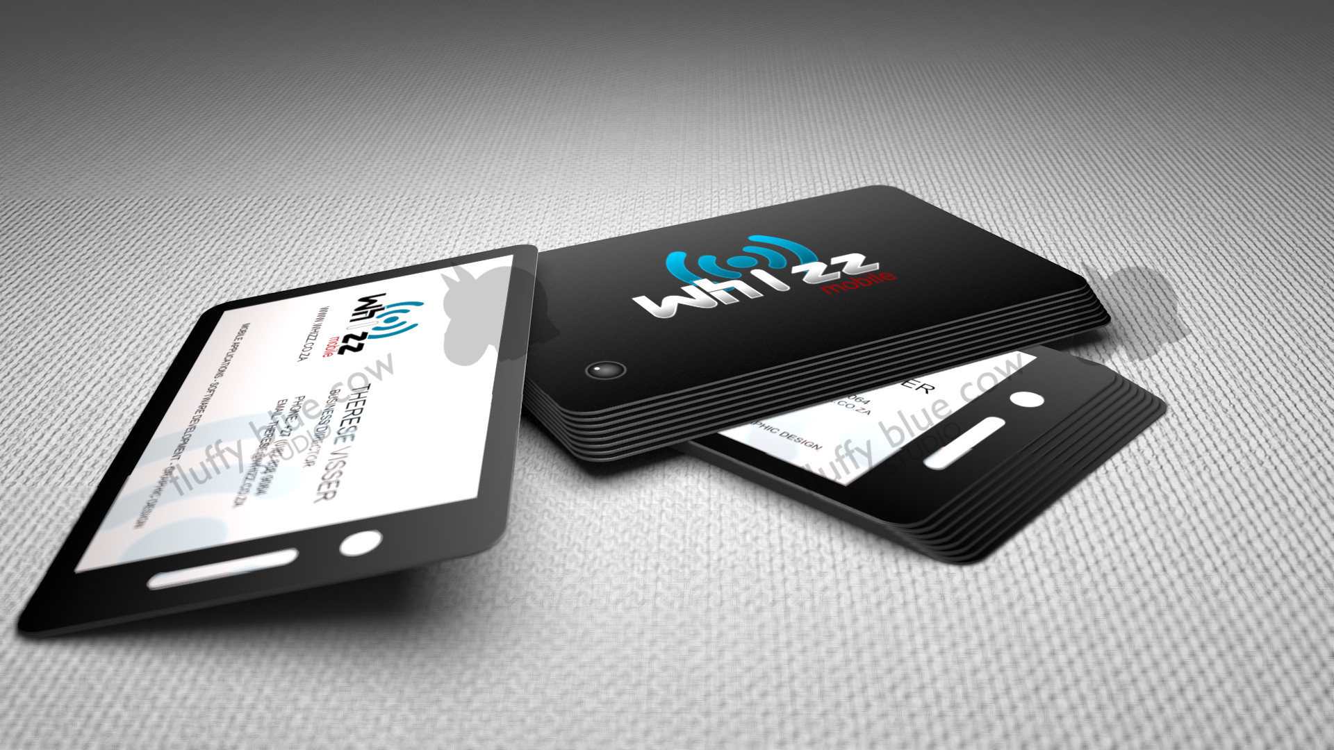 Business cards and logos fluffybluecow studio whizz mobile business cards colourmoves